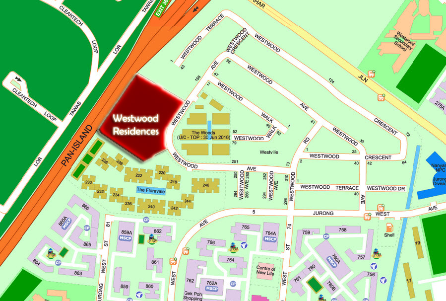 Westwood Residences EC Location
